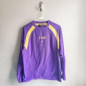 Nike Team LSU Football Therma-Fit Sweater Shirt